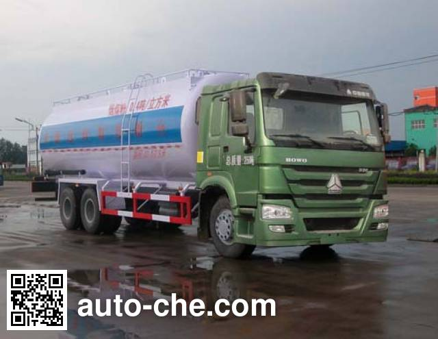 Sinotruk Huawin low-density bulk powder transport tank truck SGZ5250GFLZZ4W58