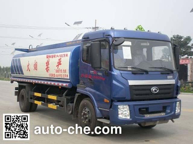 Huaren flammable liquid tank truck XHT5163GRY