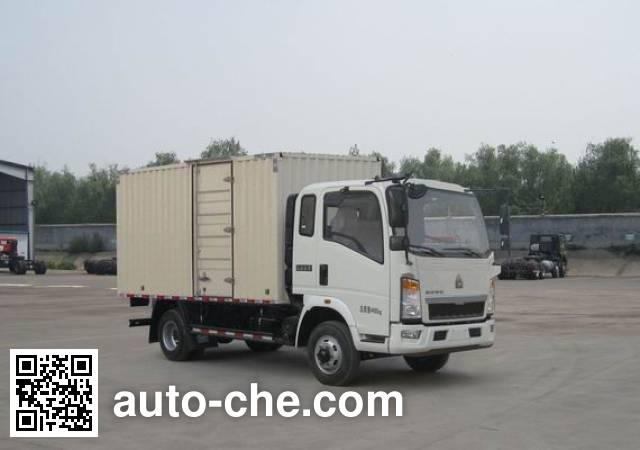 Sinotruk Howo box van truck ZZ5047XXYC2813E145