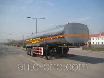 Yuanyi chemical liquid tank trailer JHL9400GHY