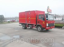 Luye flammable gas transport van truck JYJ5047XRQD