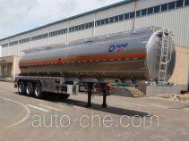 Flammable liquid aluminum tank trailer