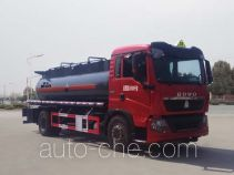 Corrosive substance transport tank truck