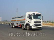 Sinotruk Huawin corrosive substance transport tank truck SGZ5310GFWZZ5T5