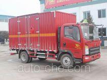 Sinotruk Howo flammable gas transport van truck ZZ5107XRQG421CE1